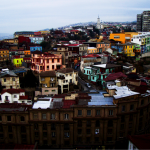 Valparaiso, a port town built on a hill. The town is what San Francisco was modelled after.