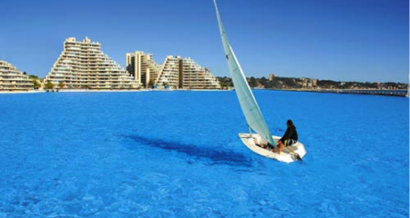 World's Largest Swimming Pool at San Alfonso del Mar in Algarrobo, Chile
