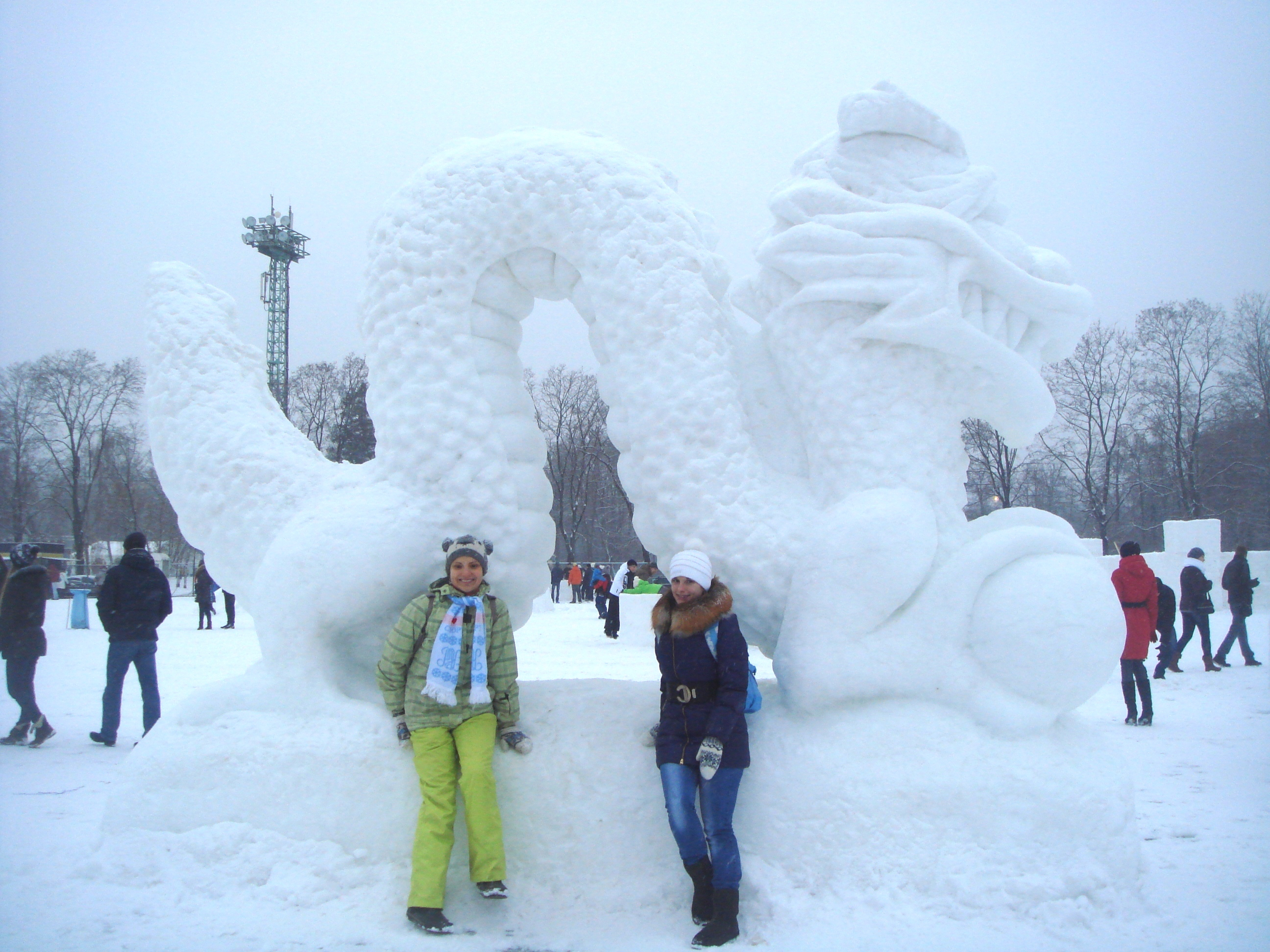 Dragon Snow Sculpture