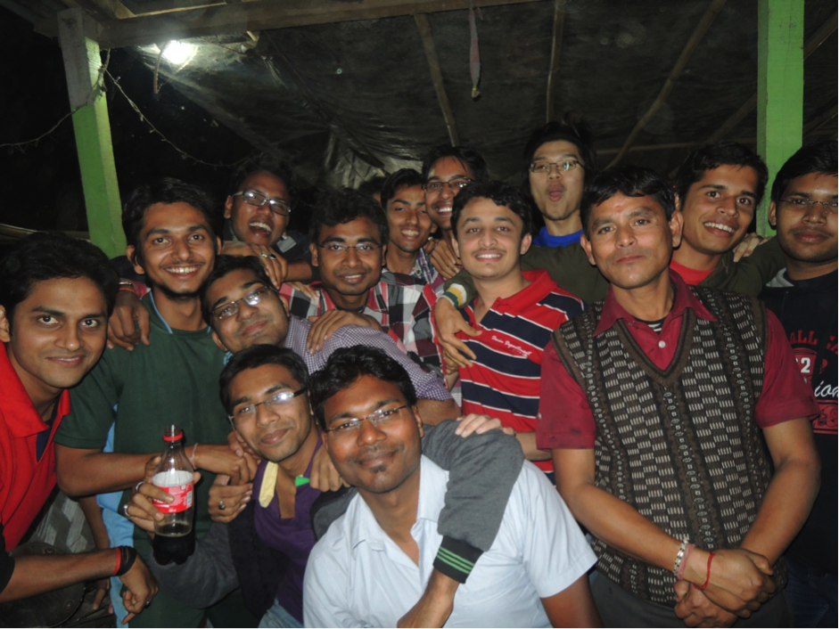Dinner session with Brahmaputra Hostel friends