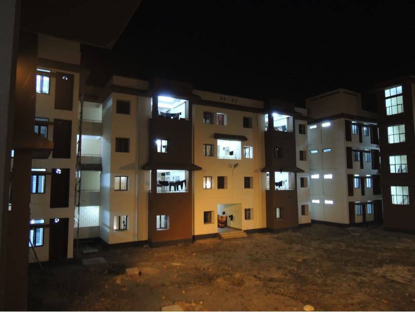 Night view of Brahmaputra Hostel