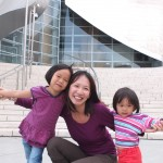 Outside Walt Disney Concert Hall in LA