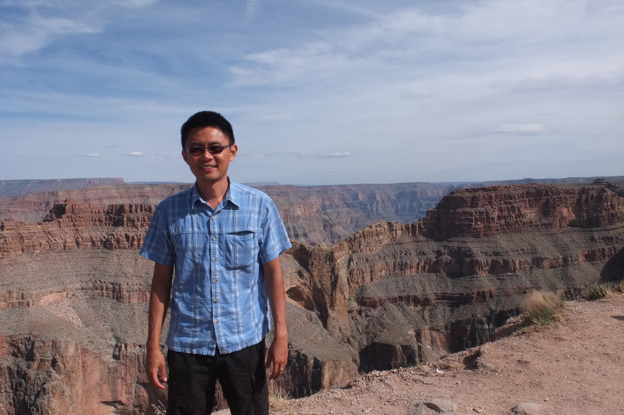 Eagle point (background) in west rim of Grand Canyon