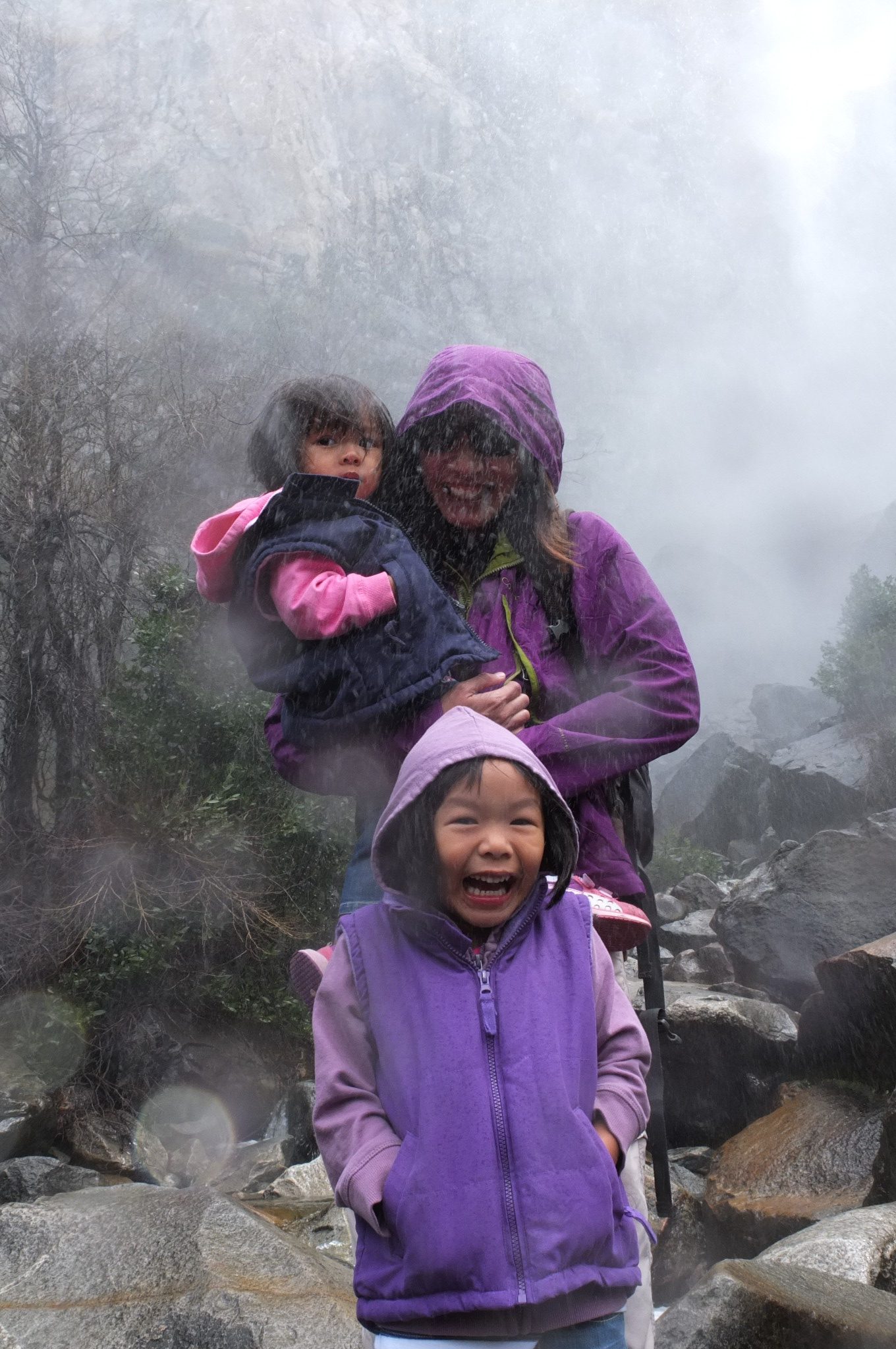 At Bridalveil waterfall