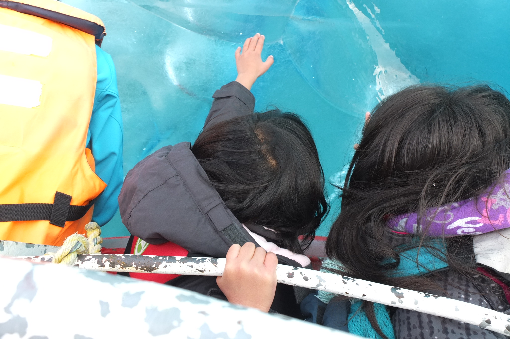 Reaching out to touch an ice berg