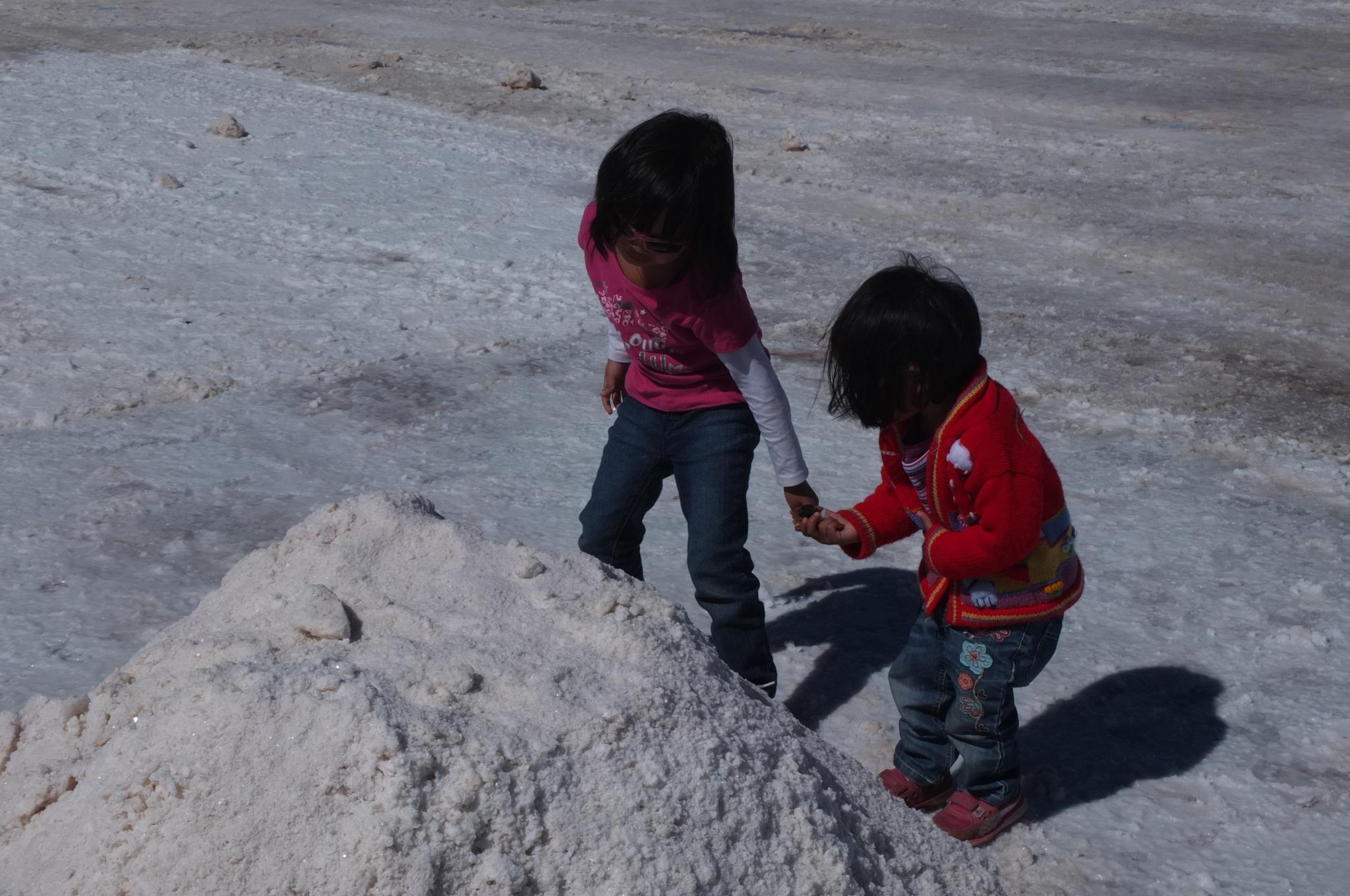 Salt flat in Uyuni