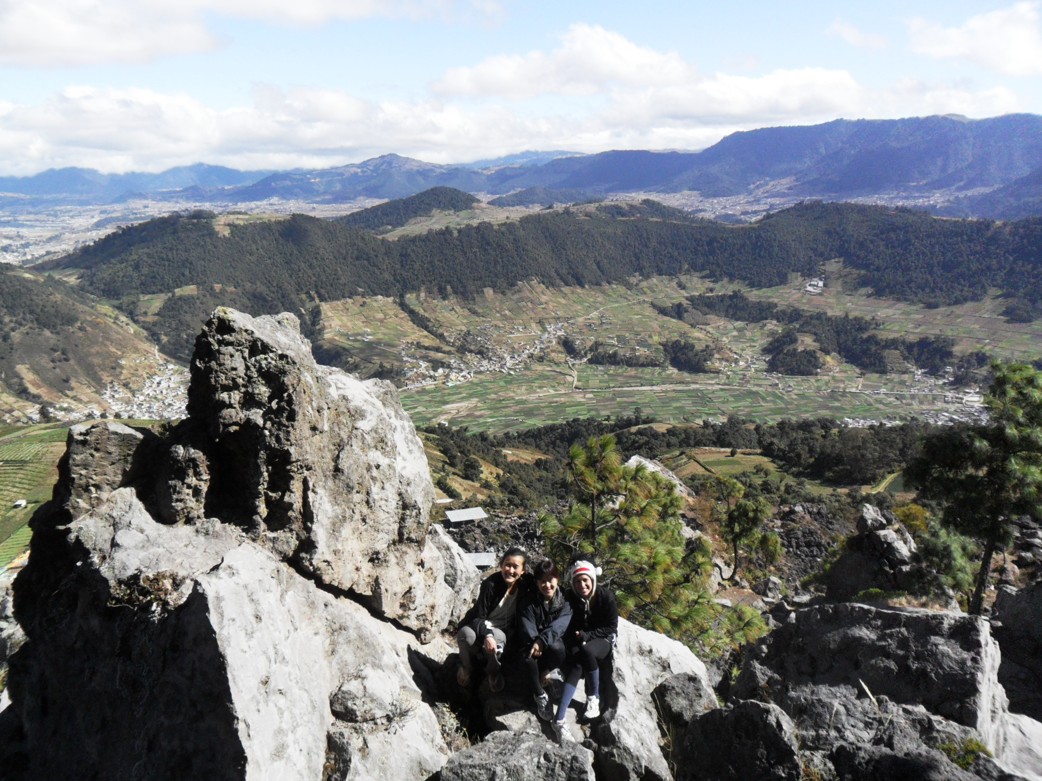 Trekking in Quetzaltenango with a couple of friends