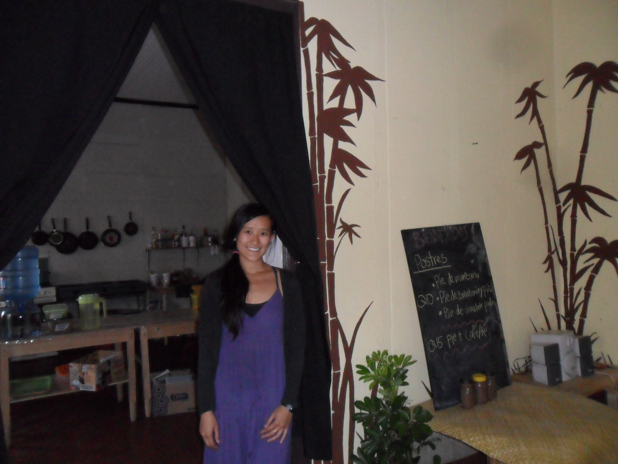 Denise with her South East Asian restaurant which she opened up a year ago