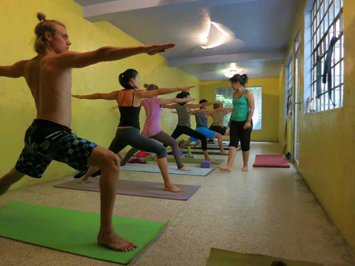 Yoga class in the community house Denise is living in - Free lessons if you're a resident here!
