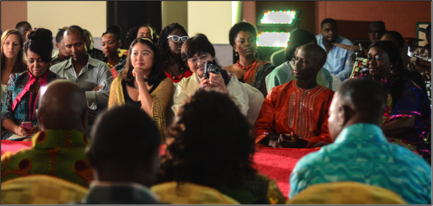 Diplomats at a fashion show in Ghana – don't remember how or why I was invited
