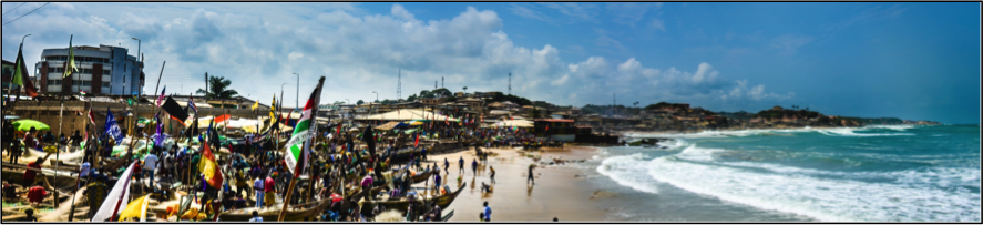 fishing village in Cape Coast, Ghana