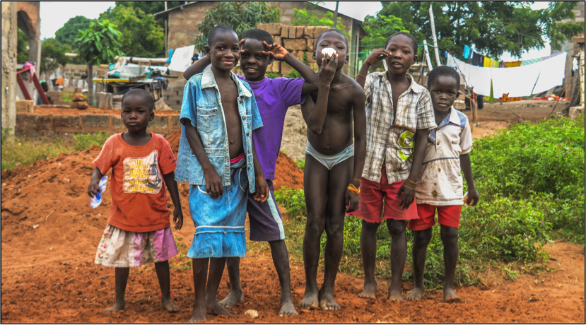 Village children in Prampram, Ghana