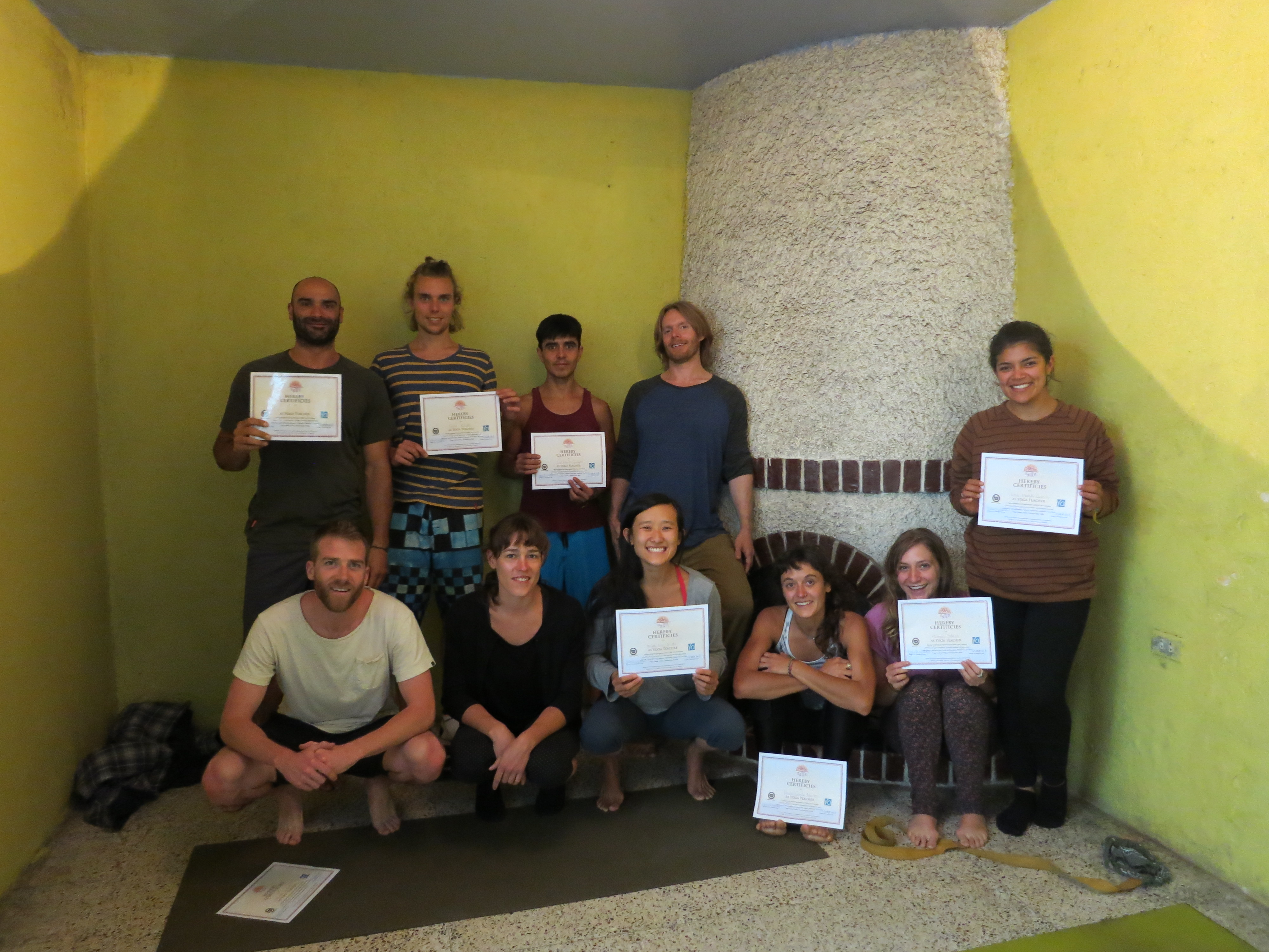 Denise is a certified yoga teacher! Anyone interested in learning from her? (You have to be in Guatemala :p)