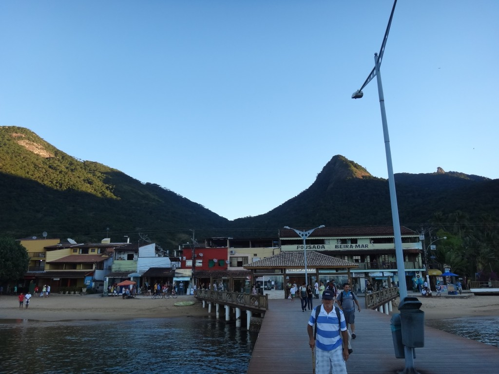 A view of the port of Abraao, Ilha Grande