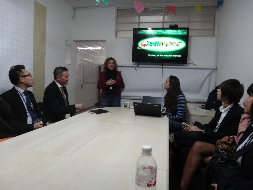 A visit to the Greenpeace office in Sao Paulo