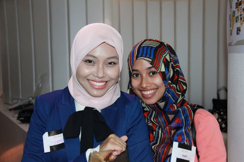 Liyana Musfirah on the left, with her friend Haziyah.