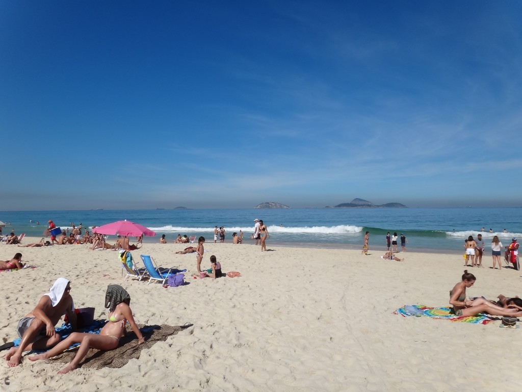 Ipanema beach - everyone was so relaxed and thoroughly enjoying themselves