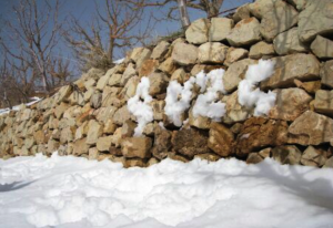 Blankets of snow during a Syrian winter