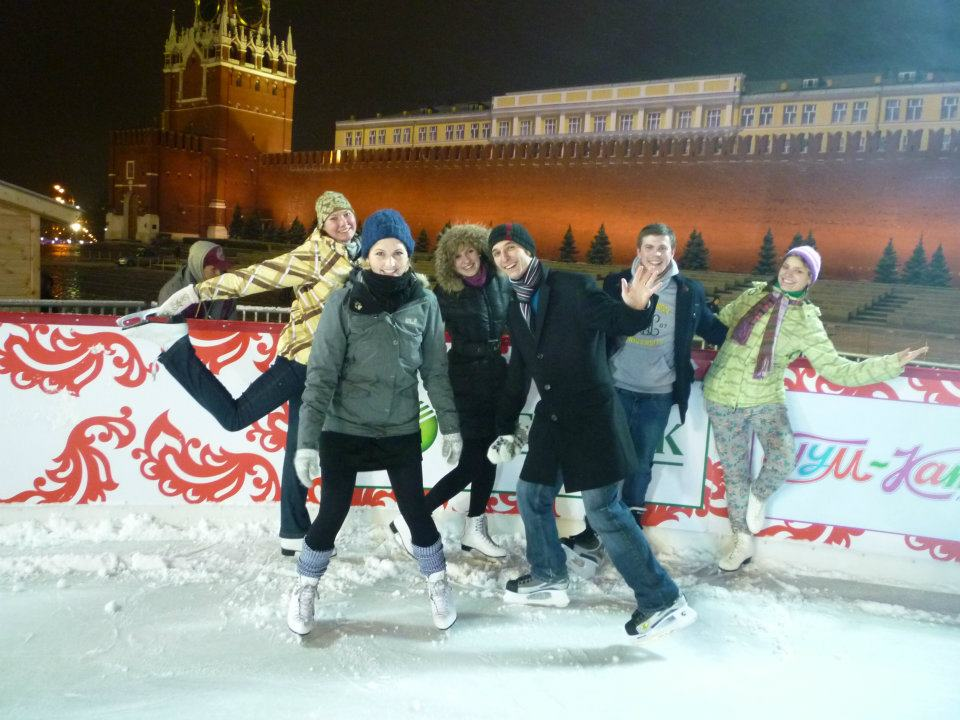 Skating at the famous Red Square