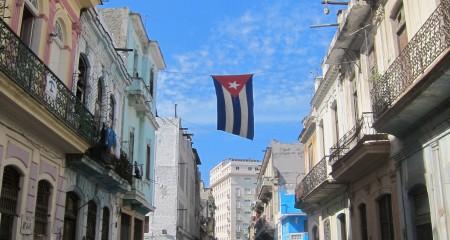 Cuban Street Flag