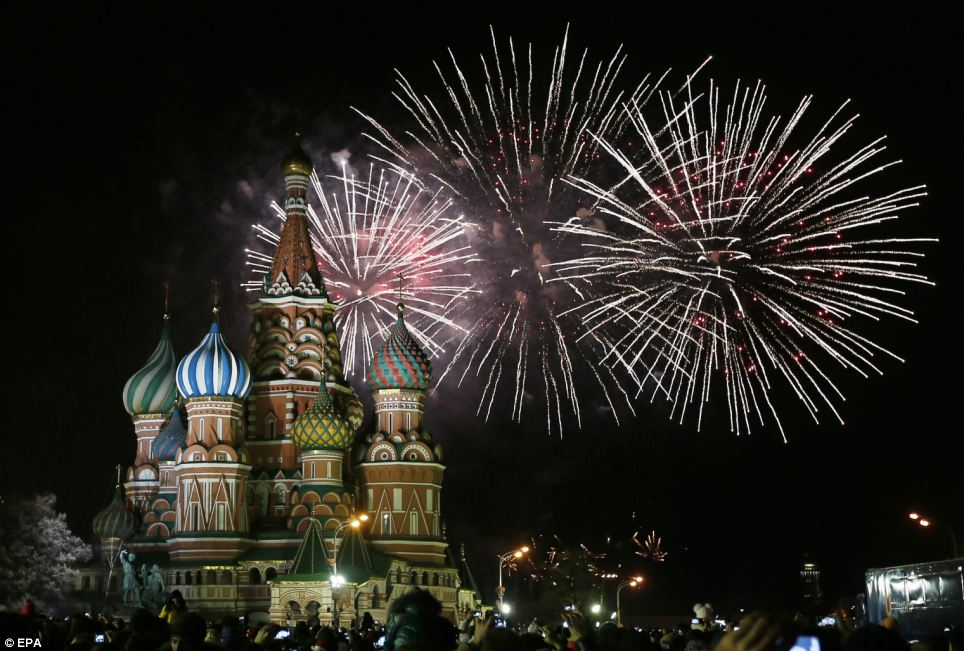 Fireworks celebration on New Year Eve - 31st December (Photo Credits: Dailymail.co.uk)