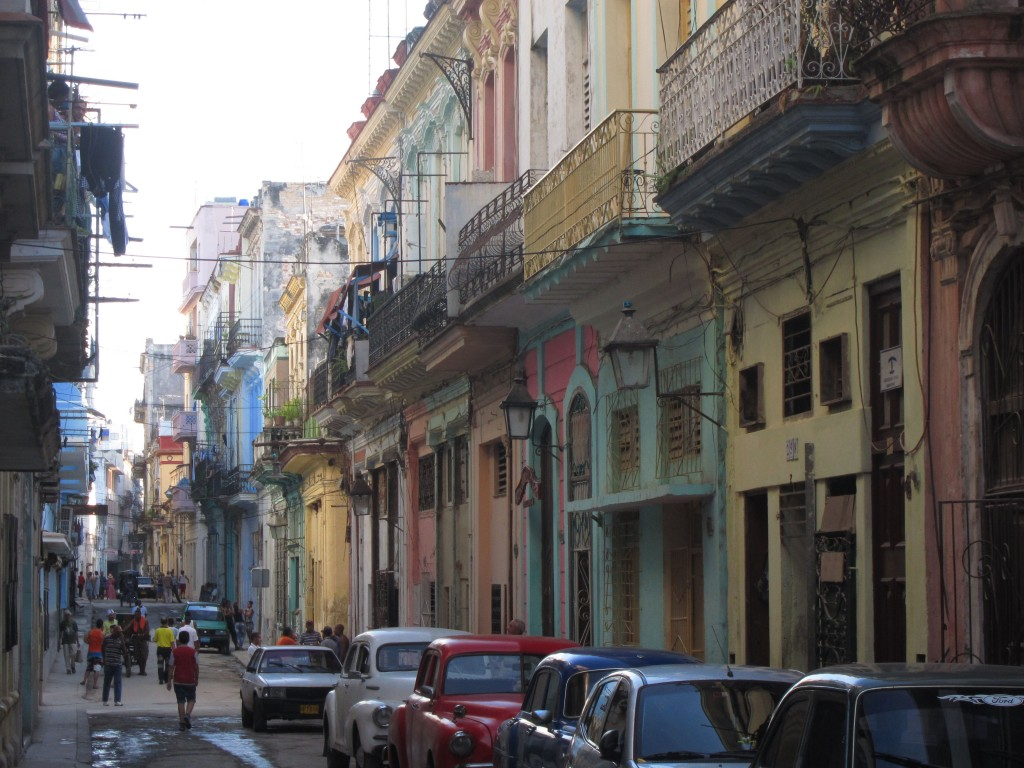Iconic colonial residential lining the streets of La Habana