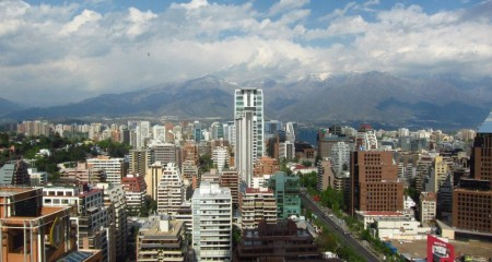 Skyline of Santiago de Chile