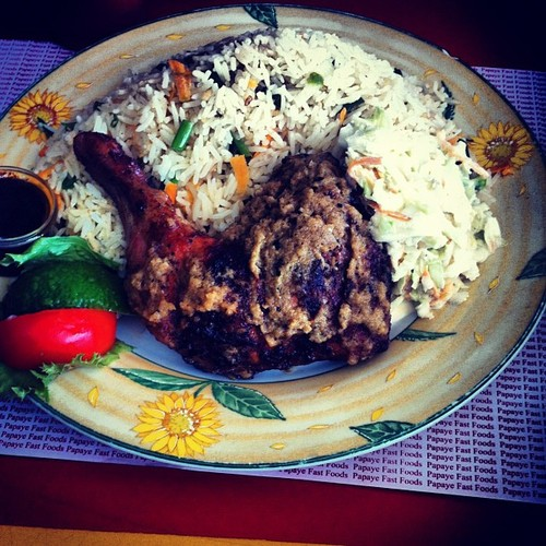 Grilled Chicken and Fried Rice