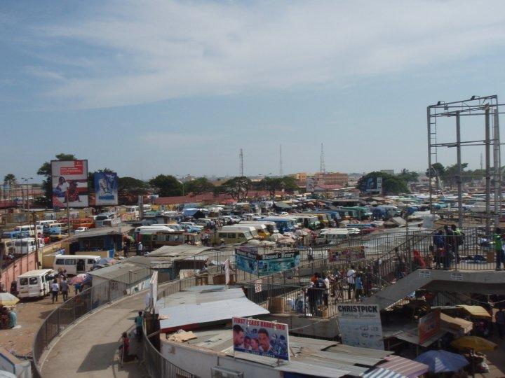 Kwame Nikrumah Circle, the largest tro-tro terminal in Accra