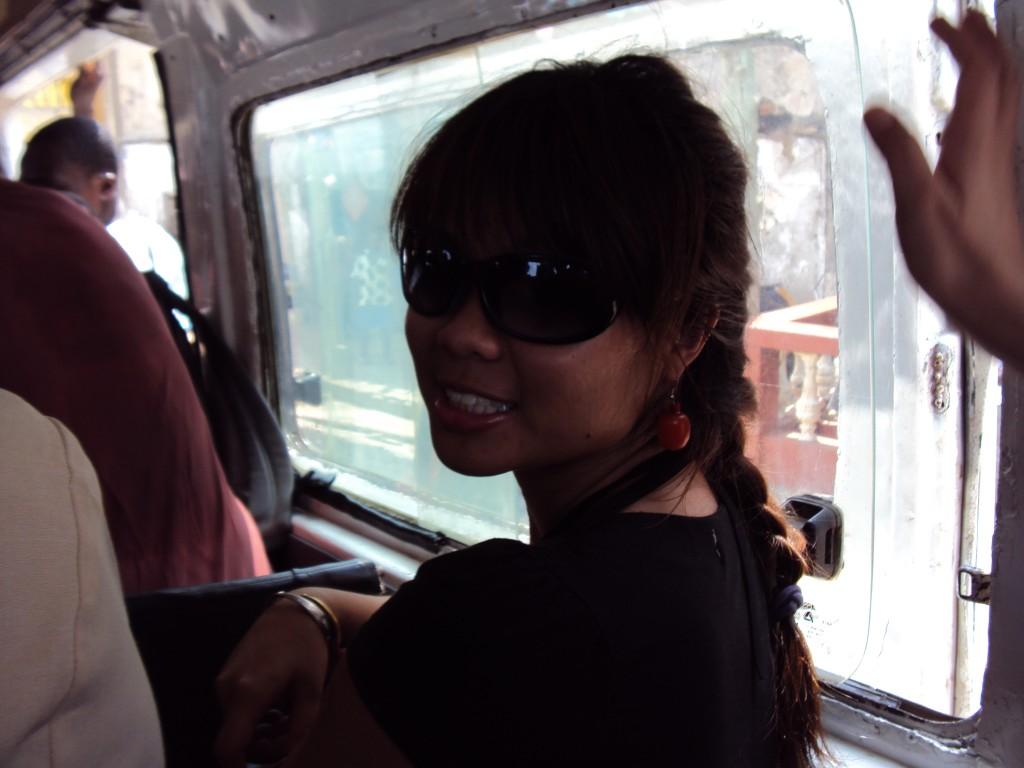 Riding a tro-tro from cape coast back to Accra