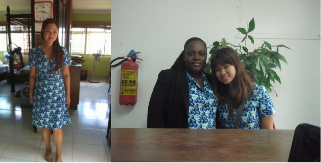 Esther and her colleague, Frema in their Friday Dress!