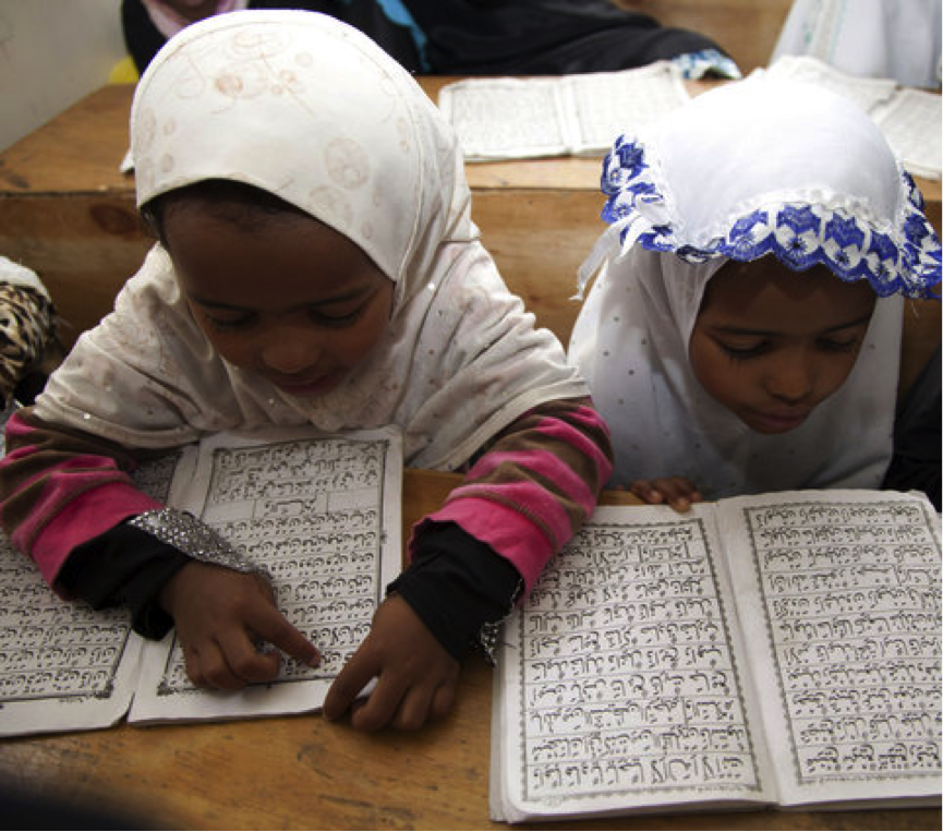 Children reading Quran in Nairobi