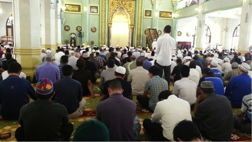 Friday prayers in Masjid Sultan