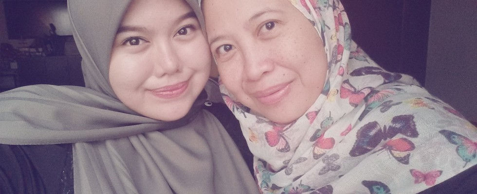 Aisyah, who is now a Syariah consultant, and her mother Anita Amir