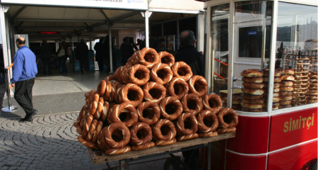 Simit cart by the street