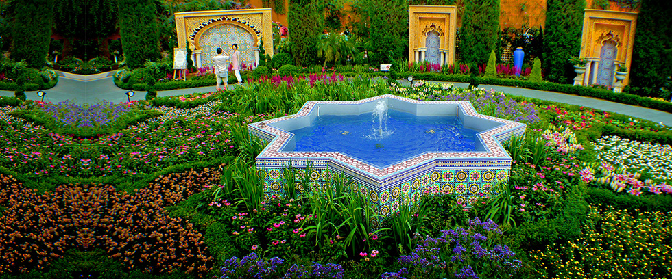 Strong Colours Are A Feature Of Persian Gardens