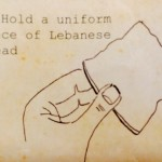 Hold a uniform piece of Lebanese bread