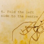 Fold the left side to the centre