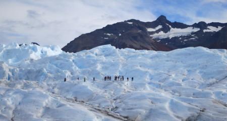 Trekkers onPerito Moreno glacier, Argentina