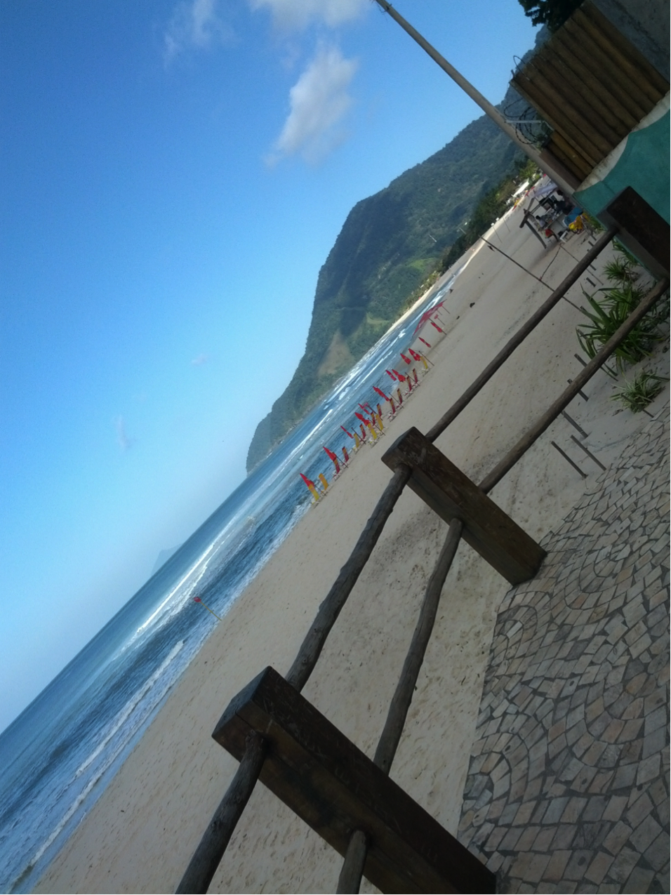 The view of Maresias Beach, a semi-private beach which has an amazing nightlife as well!