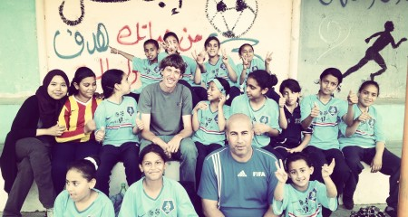 Girls Soccer Team in Palestine