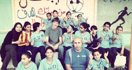 Girls Soccer Team in Palestine