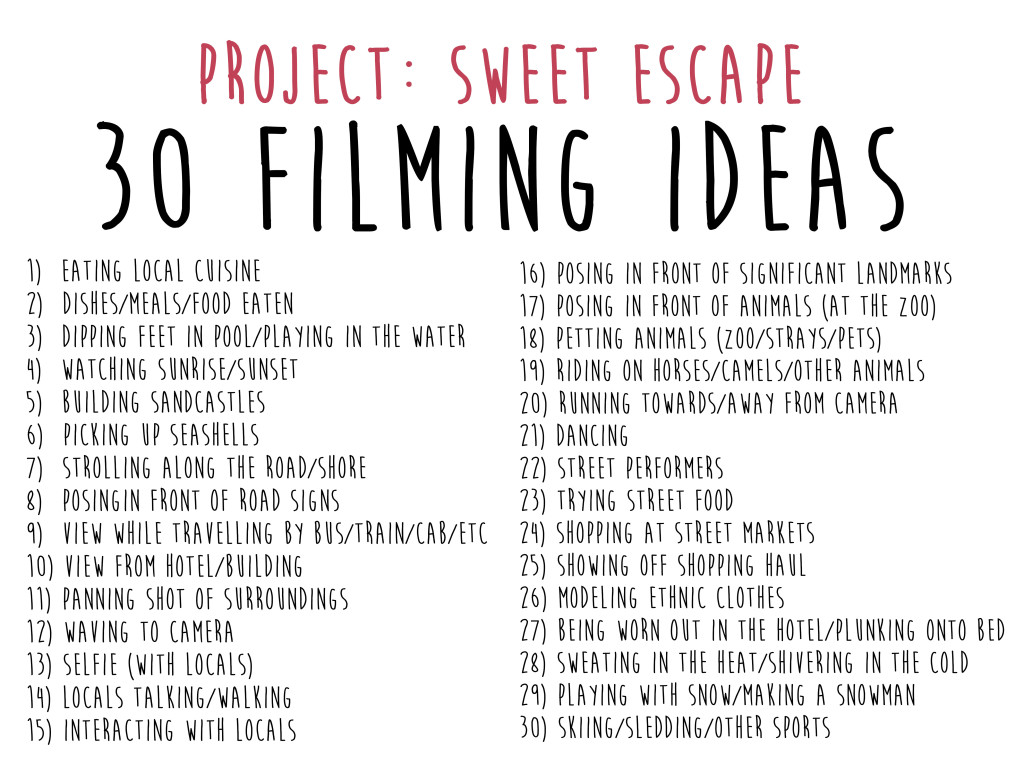 30 Filming Ideas
