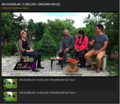 A screenshot of the documentary from Bereket TV's website