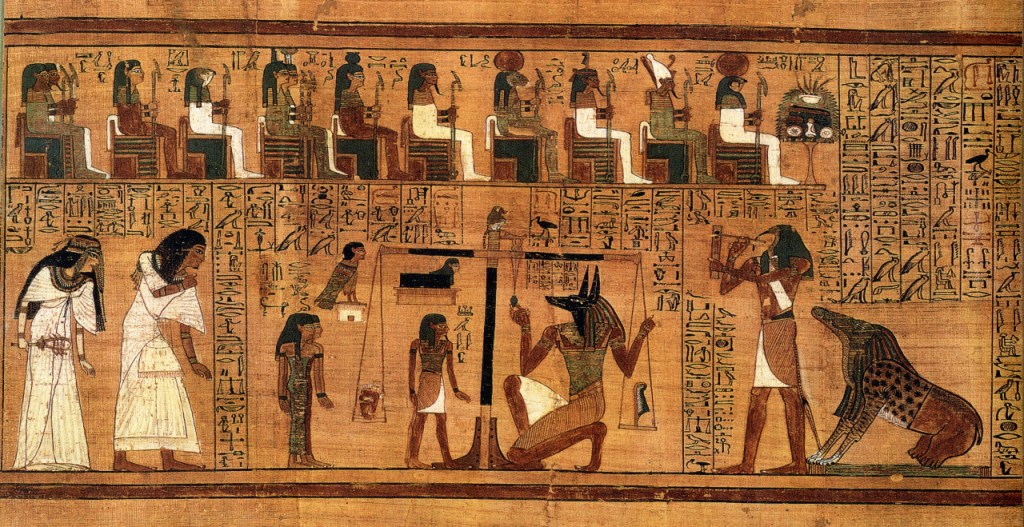 The weighing of the heart in the Book of the Dead of Ani