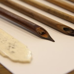 Qalams; pens are carved out of wood for use in Arabic calligraphy