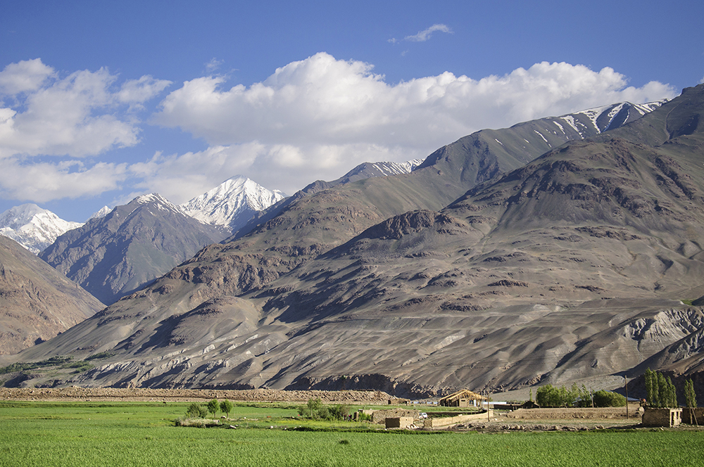 Mountains in Afghanistan as seen from Ishkashim