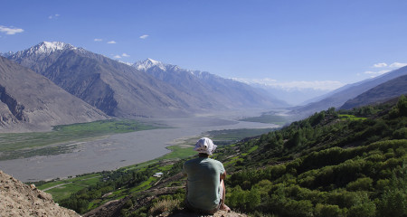 Contemplating the vastness of the Wakhan Valley