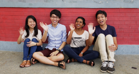 From left to right: Jemimah Seow, Andre He, Taahira Ayoob and Jeremy Ho. Photo: Lahore Landing