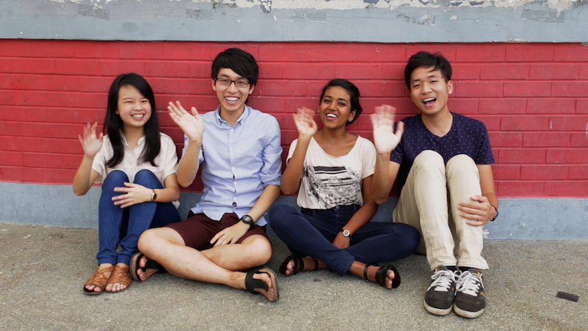 From left to right: Jemimah Seow, Andre He, Taahira Ayoob and Jeremy Ho.